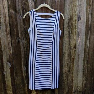 H&M Fitted Striped Dress with Gold Zipper